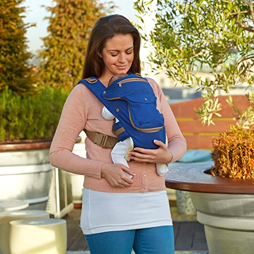 ClevaMama Baby and Toddler Hip Seat Carrier (5 Positions, Ergonomic, Approved as Hip Healthy)