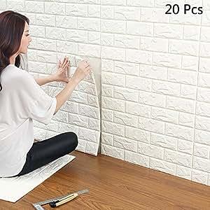 3d wandpaneele selbstklebend ytat 3d ziegelstein tapete ziegel tapete brick muster tapete. Black Bedroom Furniture Sets. Home Design Ideas