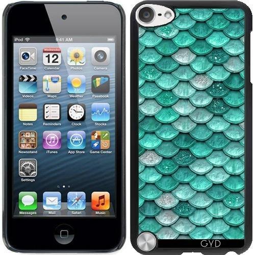 Hülle für Ipod Touch 5 - Aqua Glitter Skalen by UtArt - Fällen Ipod Blau Funkeln 5