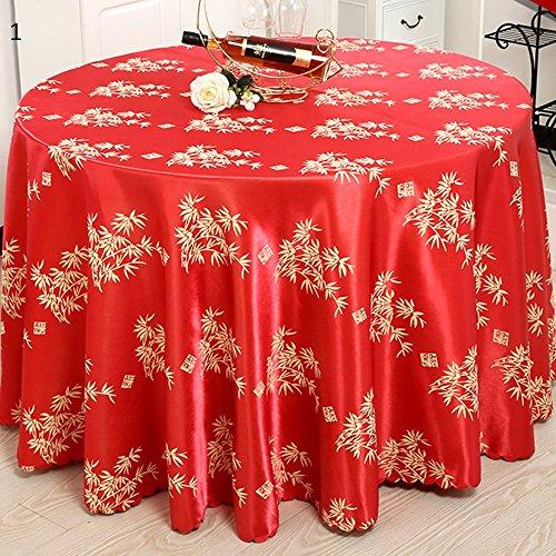 Imperméable nappe Nappe d'hôtel Toile de table en tissu Manteau de salon Tissu rond de table ronde (2 couleurs en option) (taille facultative) pour dîner ( Couleur : B , taille : 180CM )
