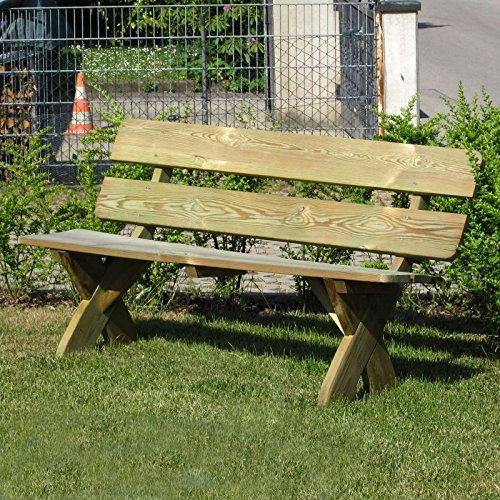 Rustikale Gartenbank 3-Sitzer aus Holz massiv wetterfest von Gartenpirat®