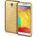 Funda protectora OneFlow para funda Samsung Galaxy Note 3 Neo Carcasa silicona TPU 1,5mm | Accesorios cubierta protección móvil | Funda móvil paragolpes bolso cepillado aluminio diseño en Ivory-Gold