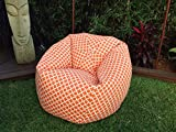 Linked pattern bean bag xxl with beans, Provides Ultimate Comfort, Great for Any Room and Office use by Aart