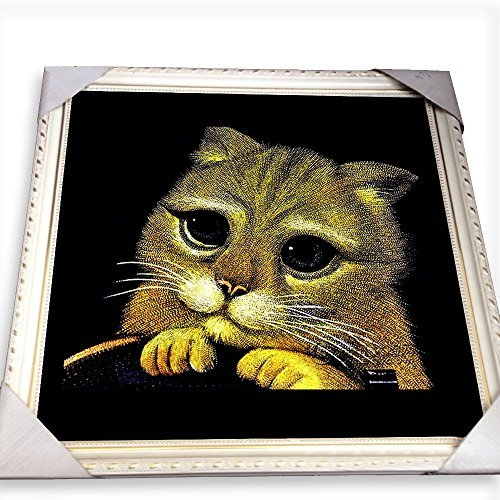 Homelix traditionnel Crafts – personnalisée Couleur en pierre Figure personnage Animal Portrait, Pierre, 12x12