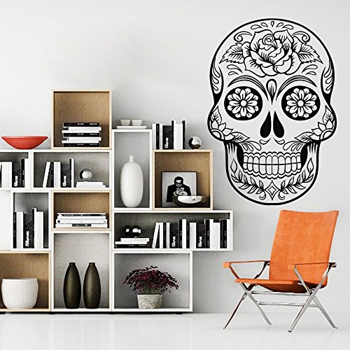 vinilo-adhesivo-de-pared-sugar-skull-calavera-mexicana-de-adhesivo-de-pared-pared-pared-grafico-mura