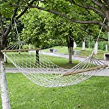 MTGYF Outdoor Leisure Camping Hänmock Bold Cotton Rope Mit Holzbar Net...