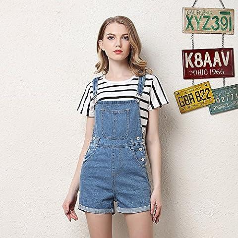 CU@EY La solide progression des femmes Haut faisceau denim shorts pantalon, light blue,S