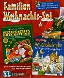 Familien Weihnachts-Set, 2 CD-ROMs Das große CD-ROM-Paket zum Basteln und Spielen. Weihnachts-Druckstudio; Adventskalender. Für Windows 98/ME/XP