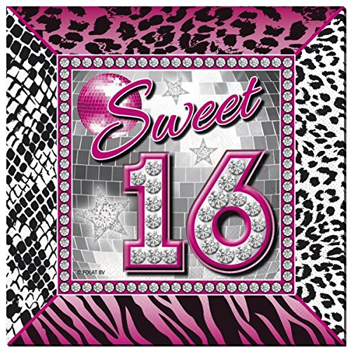 Folat Sweet 16. Party Servietten 25x 25cm (20Stück) (Sweet 16 Party)