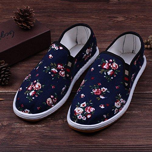 LvYuan Unisex scarpe di stoffa cinese tradizionale / informale retrò Breathe scarpe ricamate / scarpe Kung Fu / Arti marziali / slip-on scarpe Blue