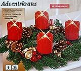 Details zu TV Original Kerzenzauber Adventskranz mit LED Echtwachskerzen Weihnachtskranz