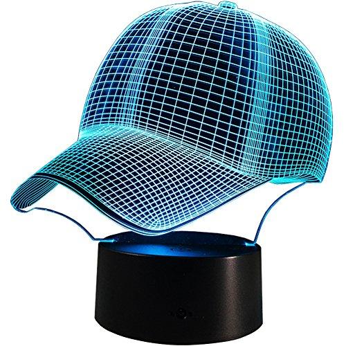 InnoWill LED Lampe Baseball Cap Geschenk 7Colors