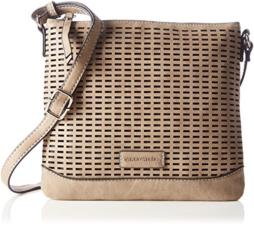 Gerry Weber Damen From Miles Shoulder Bag V, S Schultertaschen, Beige (Latte Macchiato 710), 24x21x1 cm