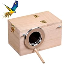 Blesiya 2x Budgie Nest Box Breeding Boxes Aviary Bird Nesting with Stick M
