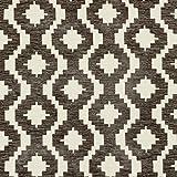McAlister Textiles - Aztec Kollektion | Stoff im geometrischen Arizona-Muster in Grau 140cm Breite | per halber Meter | Textil Material für Ethno-Look