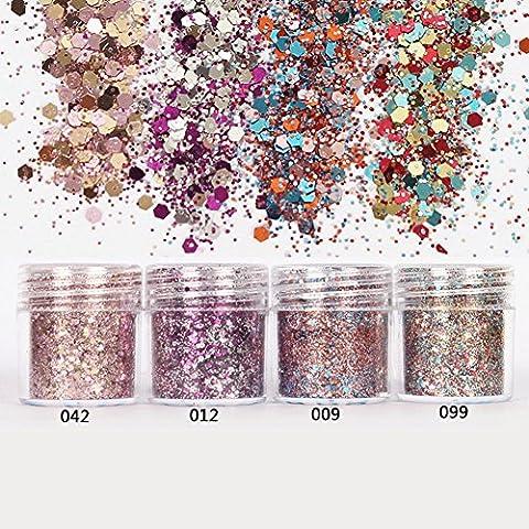 Born Pretty 1 Box 10ml Glitter Powder Pink Rose Red Ultra-thin 1mm Mixed Paillette Nail Sequins Nail Decor 042#