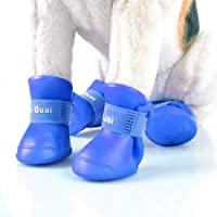 Pawzone Gummy Shoes for Dogs (S, Blue)