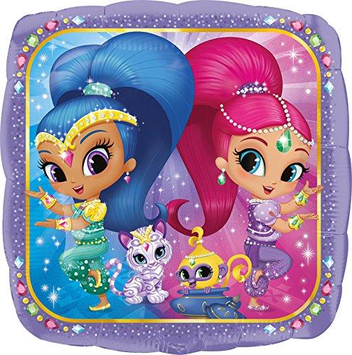 Fliegender Teppich Kostüm - Amscan 3394063 Folienballon Shimmer und Shine, mehrfarbig