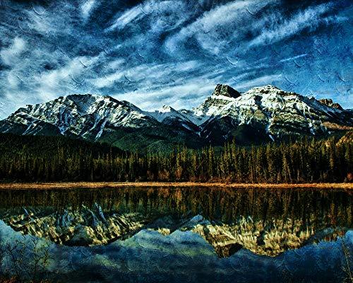 ADVLOOK DIY 5D Diamant Malerei Alberta Mountains Kanada Bilder Vierkantbohrer Kristall Strass Mosaik. Entdecken Sie Kreativität Und Problemlösung Rahmenlos 40X50Cm - Kanada Entdecken