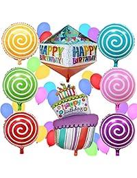 """Globos """"Happy Birthday"""" (Feliz Cumpleaños) – Artículos, Ideas y Decoraciones para Fiestas de Cumpleaños Infantiles de Sterling James"""
