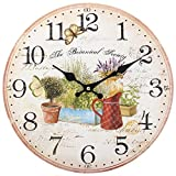 Something Different Wholesale  Garden Clock, Multi-Colour