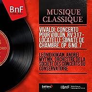 Vivaldi: Concerto pour violon, RV 317 - Locatelli: Sonate de chambre, Op. 6 No. 7 (Mono Version)