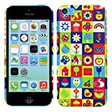 Heartly Mult Flag Printed Design High Quality Hard Bumper Back Case Cover For Apple iPhone 5C - MultiColour