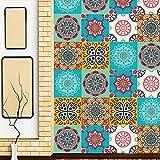 JY ART AF006 - Wand-Aufkleber Küche Deko Badezimmer-Gestaltung - Küchen-Fliesen überkleben - Dekorative Bad-Gestaltung - Fliesen-Aufkleber - 20*20cm*6pcs, 20X20cm