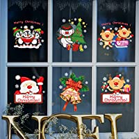Tuopuda® Decoración Navidad Pegatina Calcomanía de Ventana Vidrio Pared Puerta Vinilos Decorativos Autoadhesivo para Escaparate Tienda Hogar Moderno (color)