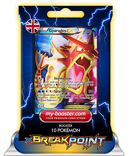 ) FULL ART 114/122 180HP XY09 BREAK POINT (Turbofieber) - Booster mit 10 Englisch Karten Pokemon my-booster ()