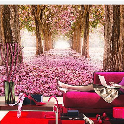 Lifme Großes Baum-Rosa-Blumen-Foto-Wand-Papier-Wandbild Papel Parede 3D Wohnzimmer-Schlafzimmer-Wandpapier-Selbstklebendes Vinyl/Seidentapete-150X120Cm - 3700 Papier