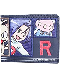 Bioworld Pokemon Team Rocket Bi-Fold Wallet Coin Pouch, 12 cm, Blue