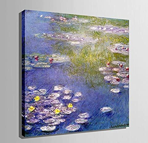 LJ&L Art-Pond Series Small Size 100% Hand Painted Oil Painting Decoration Frameless Painting Living Room Restaurant Home Decorations