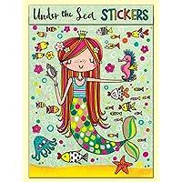 Under The Sea Mermaid Stickers Match Book by Rachel Ellen Designs