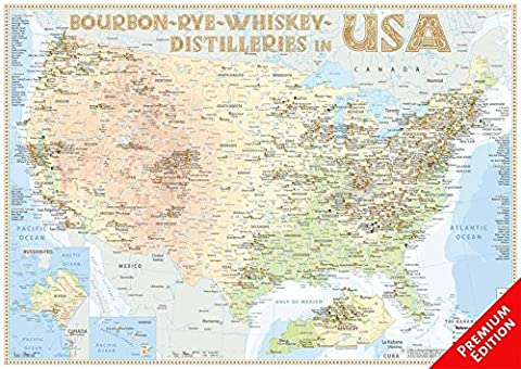 Whiskey Distilleries USA - Poster 60x42cm Premium Edition: The Whisky