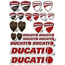 ADESIVI stickers KIT DUCATI CORSE LOGO pannello intero 24pz OFFERTA motorino MOTO casco - Ciclomotore Spark Plug