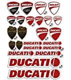 KIT Sticker Aufkleber - KIT DUCATI CORSE LOGO - gesamte panel 24pcs BIETEN Roller Motorrad Motocross