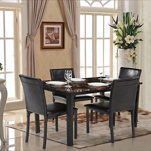 IKAYAA Set Tavolo Sedia Cucina Moderna Sala da Pranzo ...