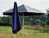 Sonntex ART-Schirm Poly. 250/6tlg. silberner Alu Unterstock, Bezug grün