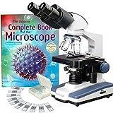 amscope b120C-cm-ps252500x Lab LED Jumelles composé Microscope w 3d-stage Lames 25Biologie et livre