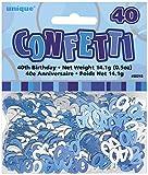 Unique Party 55215 - Blu Brillante Coriandoli in Foil per 40° Compleanno