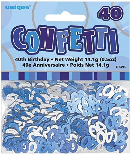 s Konfetti blau/grau - 40 Jahre 14g ()