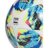 adidas Finale Top Training Ball Balón de Fútbol, Hombres, Multicolor (White/Bright Cyan/Solar Yellow/Shock Pink), 4