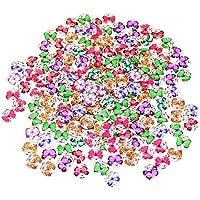 TANGGER Mosaik Fliesen Gemischte Farben Runde Schmetterling Mosaik Kuppel Glas Cabochon für DIY Handwerk Schmuck Machen 200pcs,12 x 4 mm