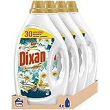 Dixan Detergente Líquido Aromaterapia Lotus & Aceite de Almendra para Lavadora - Pack de 4x30D, Total 120 Lavados (6 L)