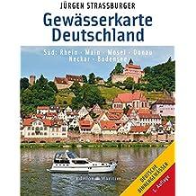 Gewässerkarte Deutschland Süd: Rhein, Main, Mosel, Donau, Neckar, Bodensee