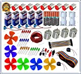 #6: GKA2Z 70 Items in 1 Kit/10 high Speed dc Motor 14000 RPM/4 Cylindrical dc Motor 7000 RPM/6 Fan/5 Rocker Swichs & 20 LEDs