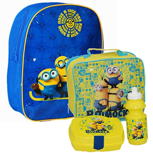 Universal® Minions Official Kids Children School Travel Rucksack Backpack Bag and Lunch Bag Set