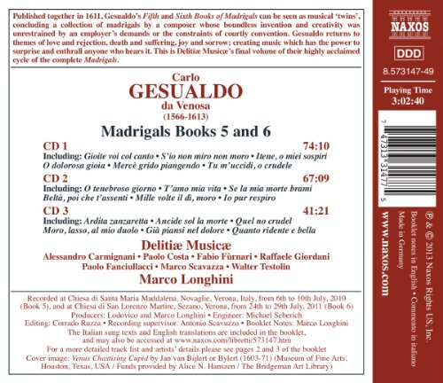 Gesualdo: Madrigals Book 5+6