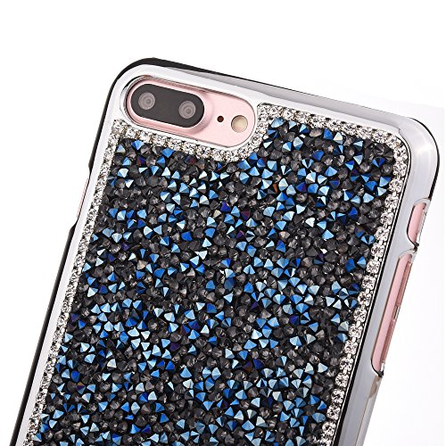 "Coque pour Apple iPhone 7Plus 5.5""(NON iPhone 7 4.7""), CLTPY 3D Jelly Housse dans Placage Bordure Hard Bling Flash Etui Plastic Protection Cristal Case Glitter Sparkles Strass Coquille pour iPhone 7Pl Bleu"